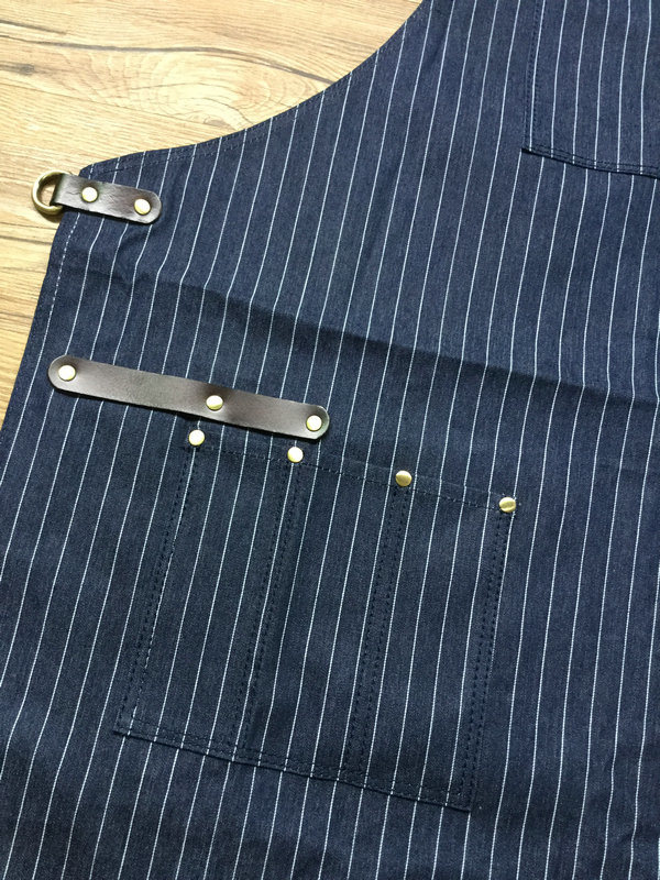 Custom High Quality Stripe Denim Barber Apron Wholesale