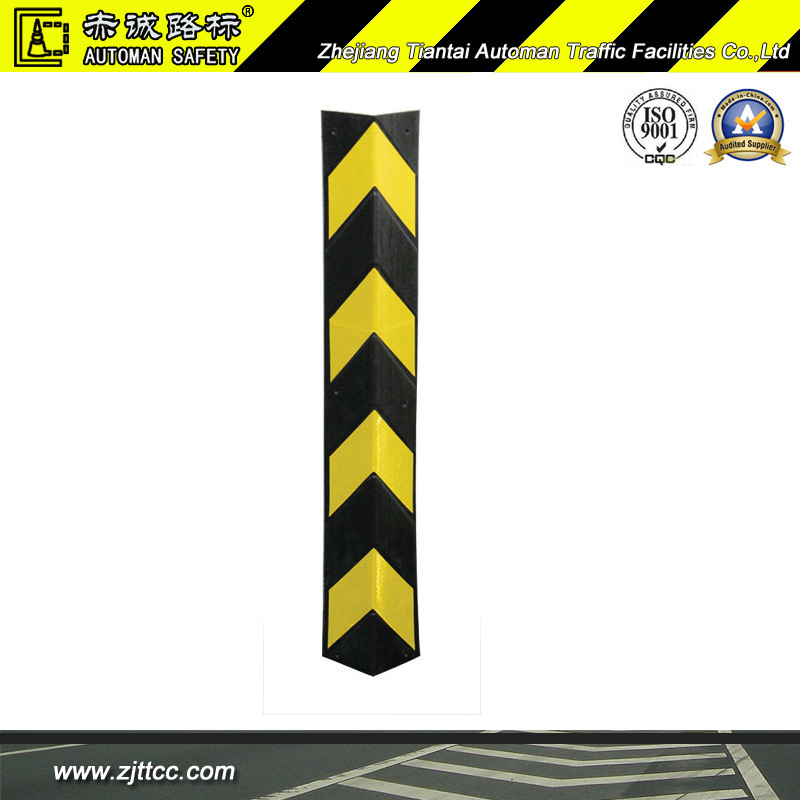 Reflective Industrial Rubber Garages Wall Corner Safety Guard (CC-C02)