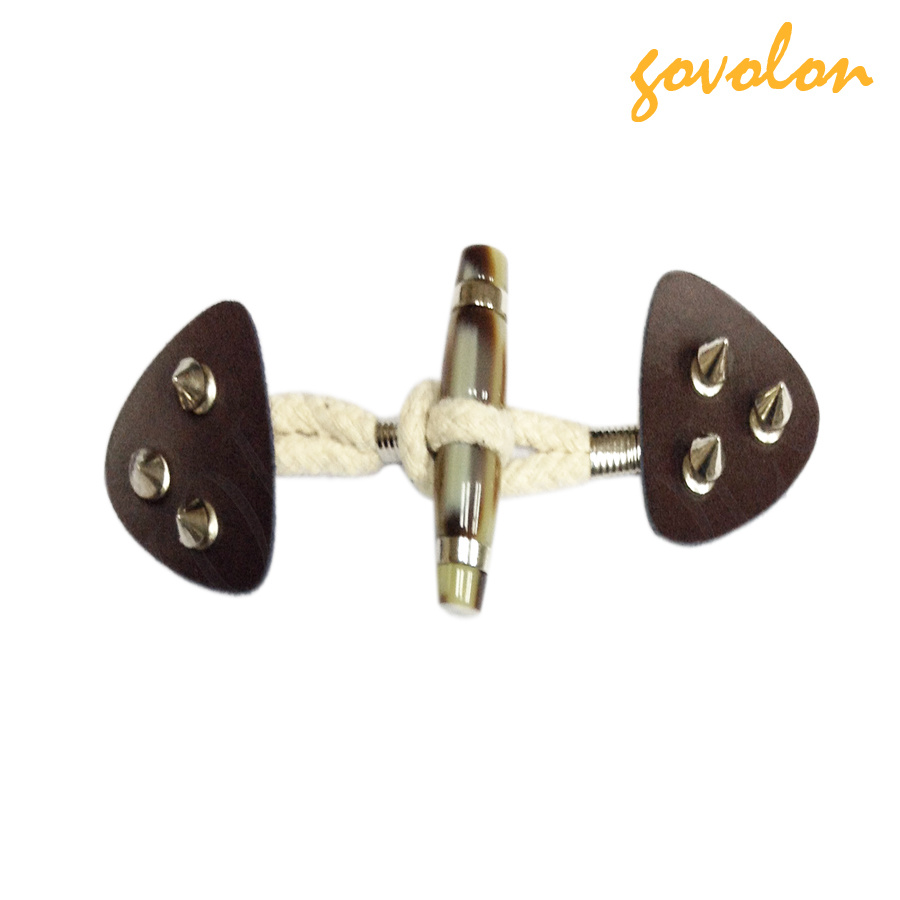 PU Tape Toggle Fastener Buckle with Metal Rivets