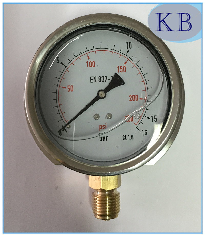 En837-1 Manometer with Glycerine Oil Filled Dia. 63mm