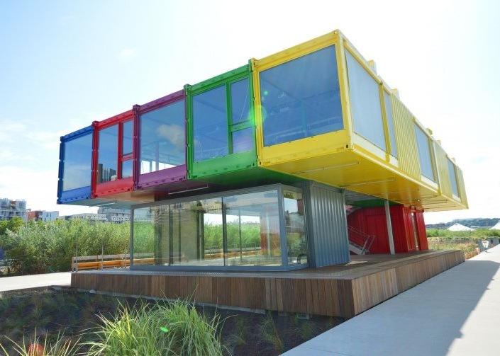 China Colorful Fashion Container Villa Prefab House