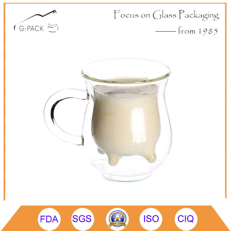 Double Wall Glass Milk Mug