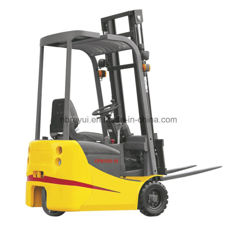 3 Wheels Electric Forklift with Dual Front Drive Wheel