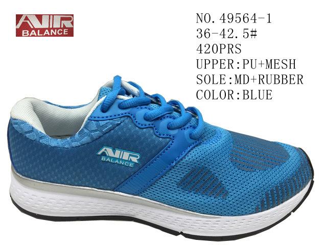 No. 49564 Lace up Women Stock Sport Shoes
