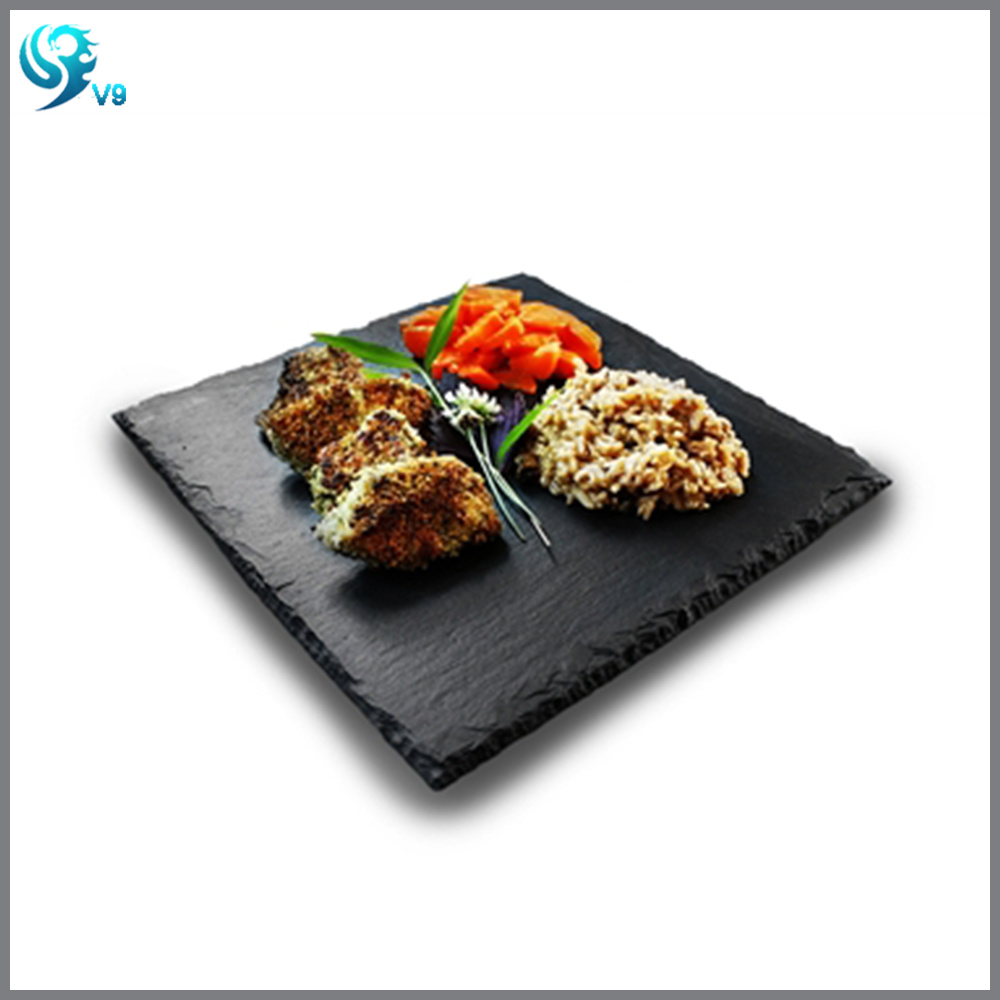 High Quality Square Shape Natural Dinner Slate Plate