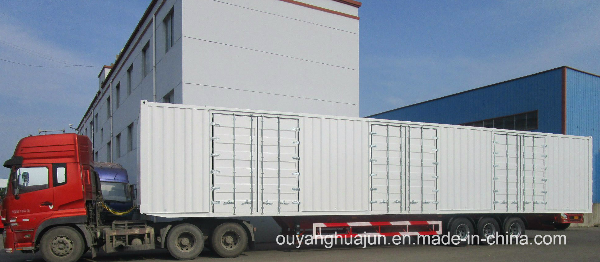 50 Feet Van Type Container Semitrailer