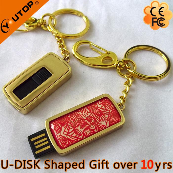 Hot Slide Doming Custom Logo USB Flash for Gift (YT-3224)