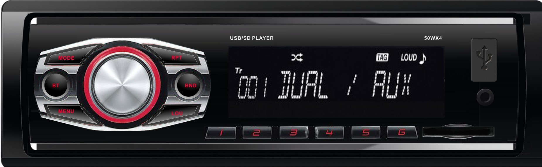 Car MP3 Stereo Player/ FM/ Remote Control Audio Radio