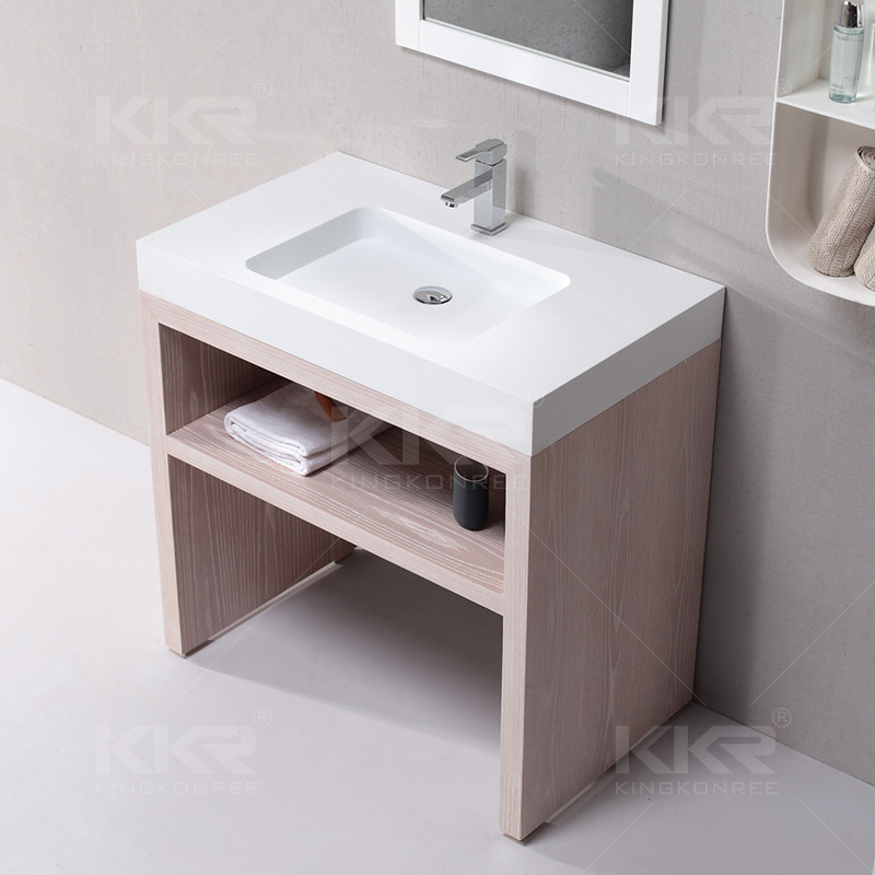 Custom Artificial Stone Resin Vanity Bathroom Sink