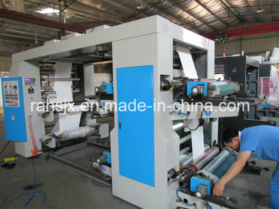 Middle Speed Paper 4 Color Flexographic Printing Machine