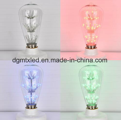 MTX Antique Retro Vintage Edison Bulbs E27 2/4/6/8W Incandescent Light Bulbs ST64 Decorative Filament Bulb Edison Light