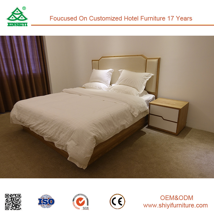 Factory Supply White Ash Wood Bedroom Furniture Set for 5 Star Hotel
