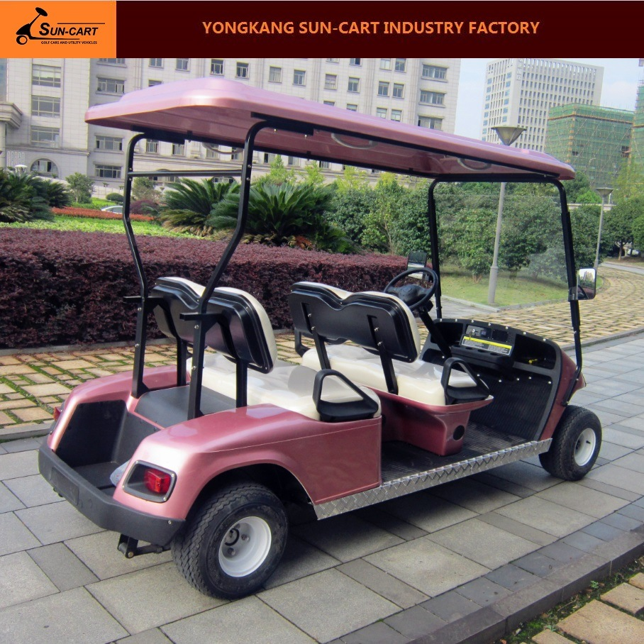 Four Passenger Electric Golf Cart for Golf Course and Hotel