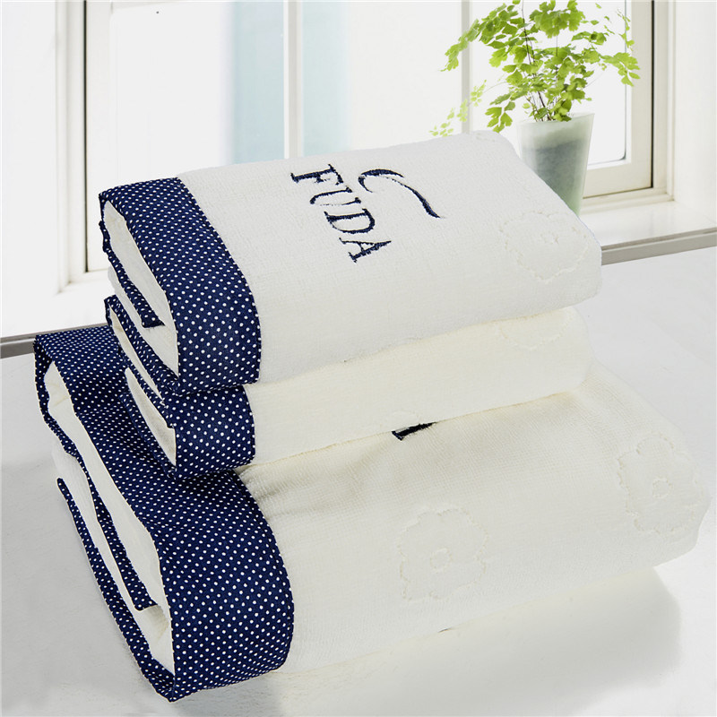 China Supplier Wholesale White Cotton Hotel Face Hand Bath Towel