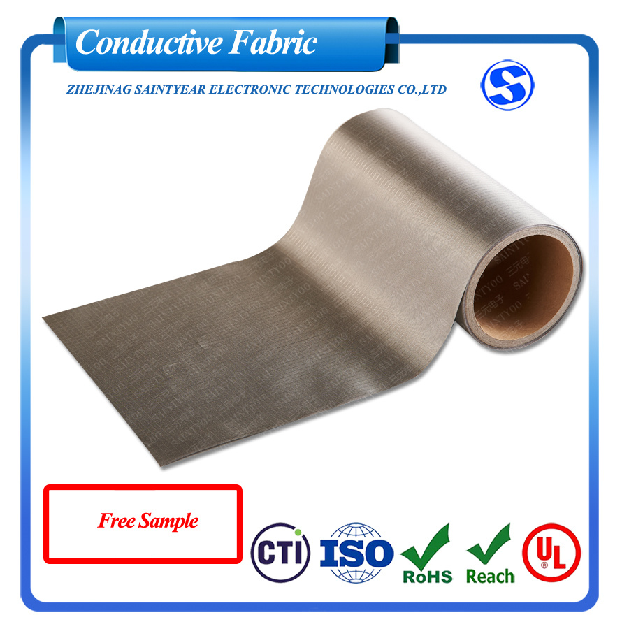 Factory Wholesale Military Grade EMI Fabric Ripstop Nickel Copper Conductive Fabric RFID Blocking Fabric for Wallets