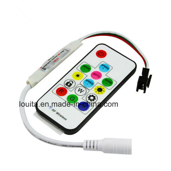 DC5V/12V 14key Mini-RF Wireless Remote Controller for LED Strip Ws2811/Ws2812b