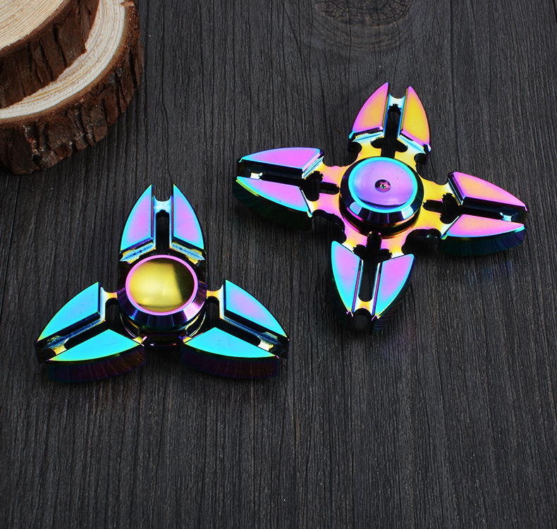 R188 Bearings Colorful Three Angle Crab Shaped Hand Fidget Spinner