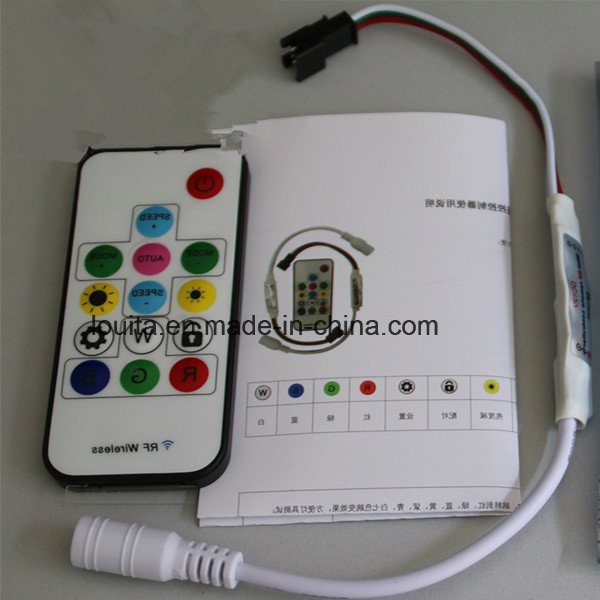 DC5V/12V 14key Mini-RF Wireless Remote Controller for LED Strip Ws2811/Ws2812b