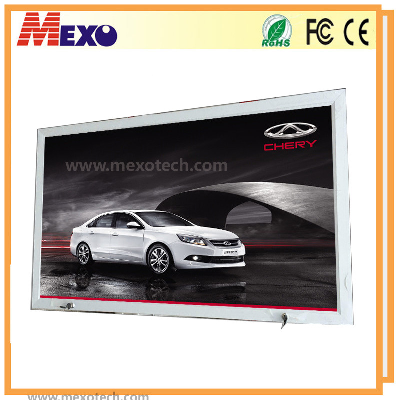 Outdoor Waterproof LED Light Box with Aluminum Frame and Lock