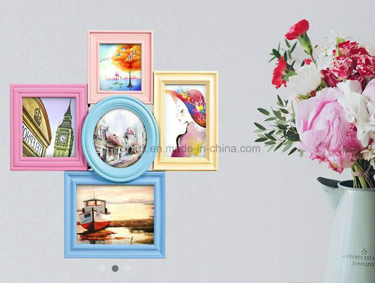 Plastic Home Decoration Table Desk Photo Frame