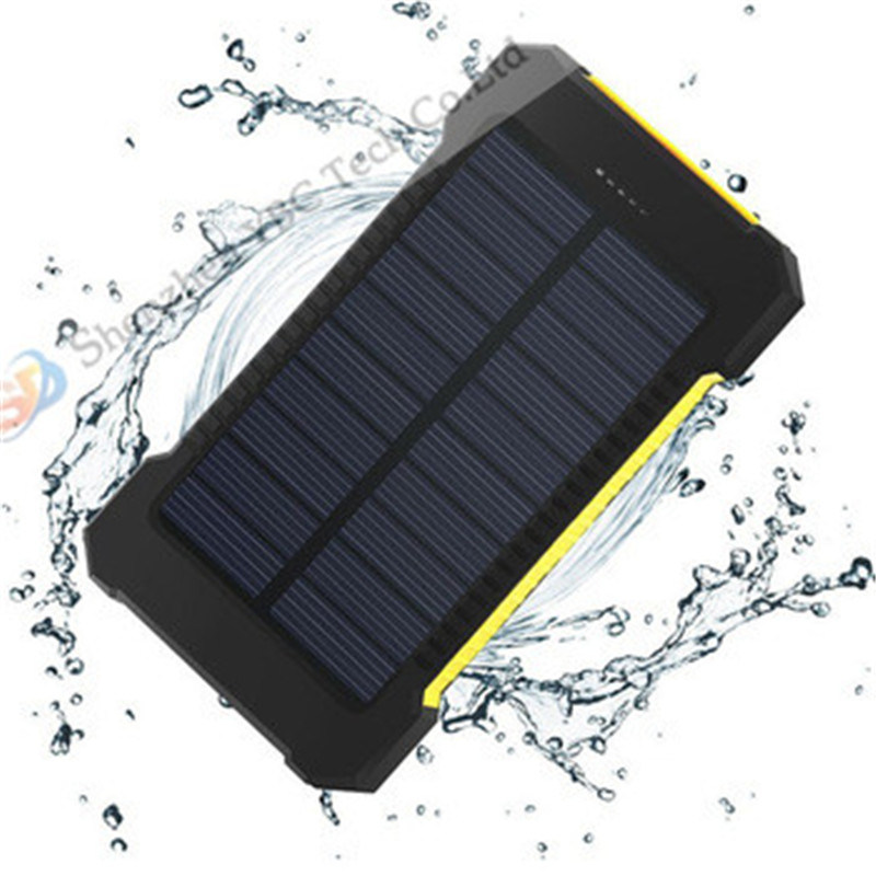 Portable Waterproof Solar Power Bank 6000mAh Rechargeable Battery