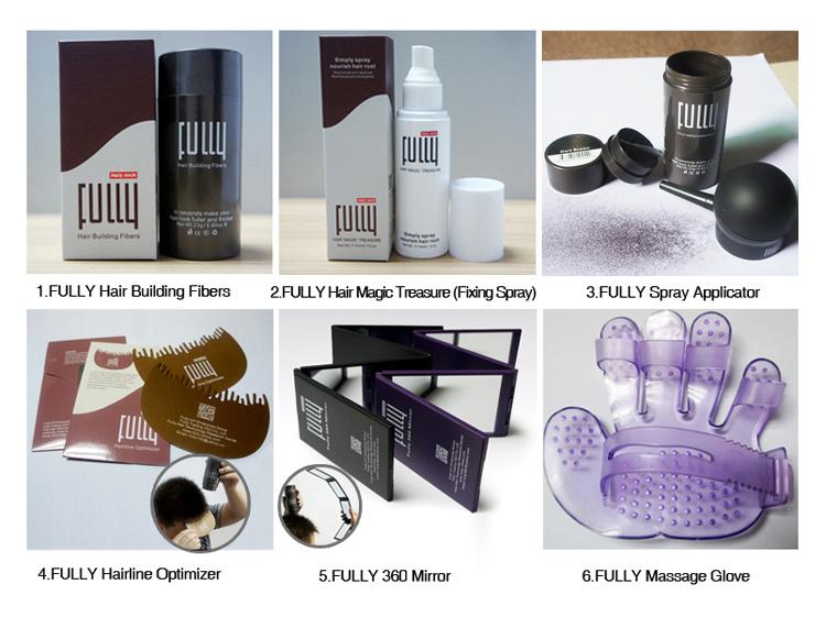 Fully Natural Keratin Hair Fibers for Anti Hair Loss Treatment