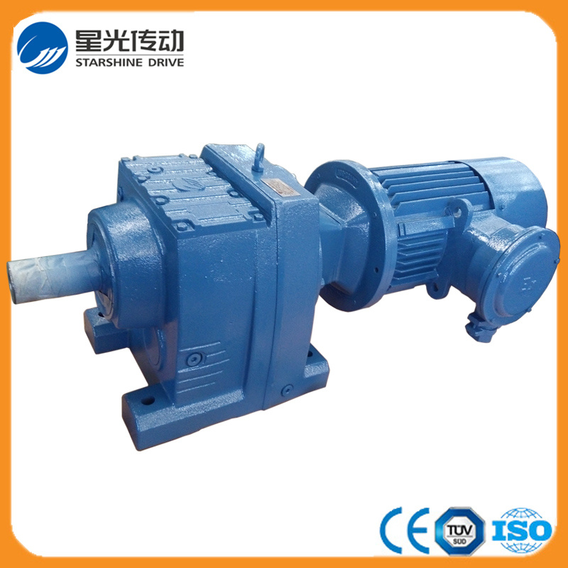 R Series Helical Geared Motor with Horizontal Shaft