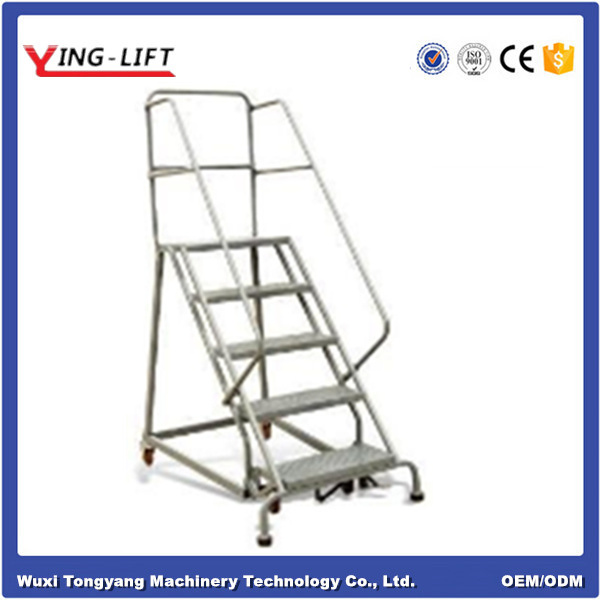 High Quality Industrial Steel Rolling Ladders with Five Steps