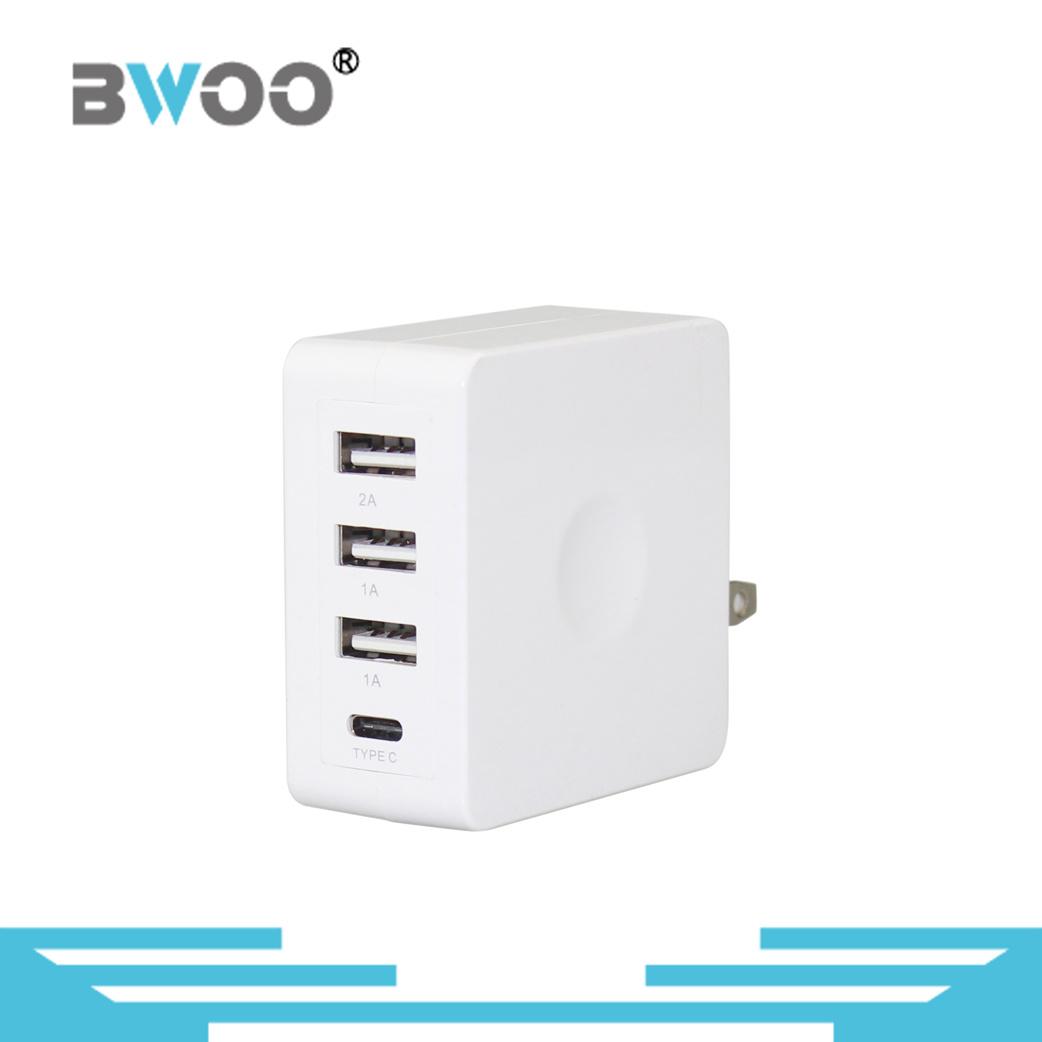 Portable USB Wall Charger with UK/EU/Us Plugs