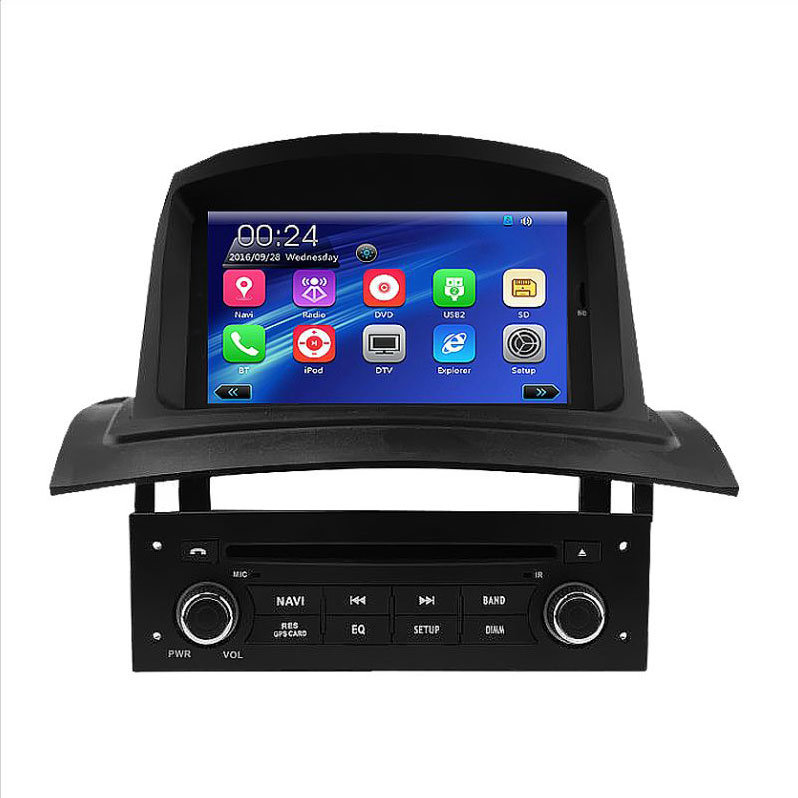 Car Audio Player for Regane 2 Fluence with Bluetooth FM Am USB DVD iPod DVB-T