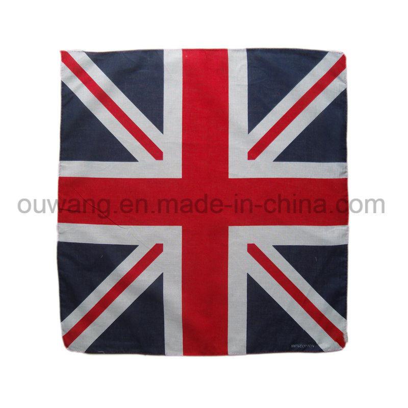 Custom National Flag Promotional Square Bandana 100% Cotton