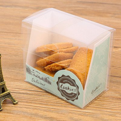 factory hot sell food grade printing fancy gift cookie box(pet box)