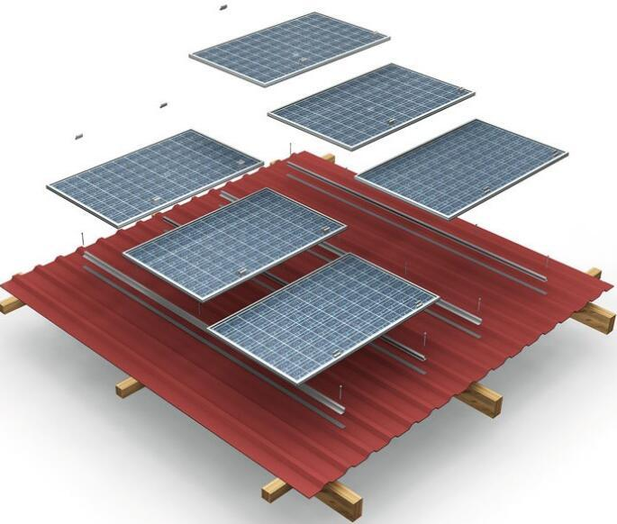Aluminum Solar Brackets for Corrugated Metallic Roof