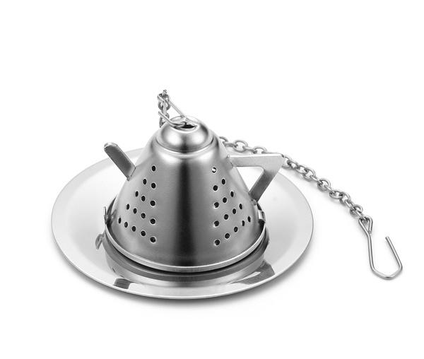 Mini Tea Pot Tea Cup Infuser with Chain Tea Strainer
