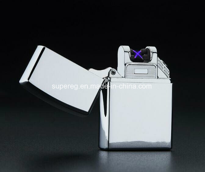 High quality Cross Double Arc Lighter USB Pulse Windproof Lighters