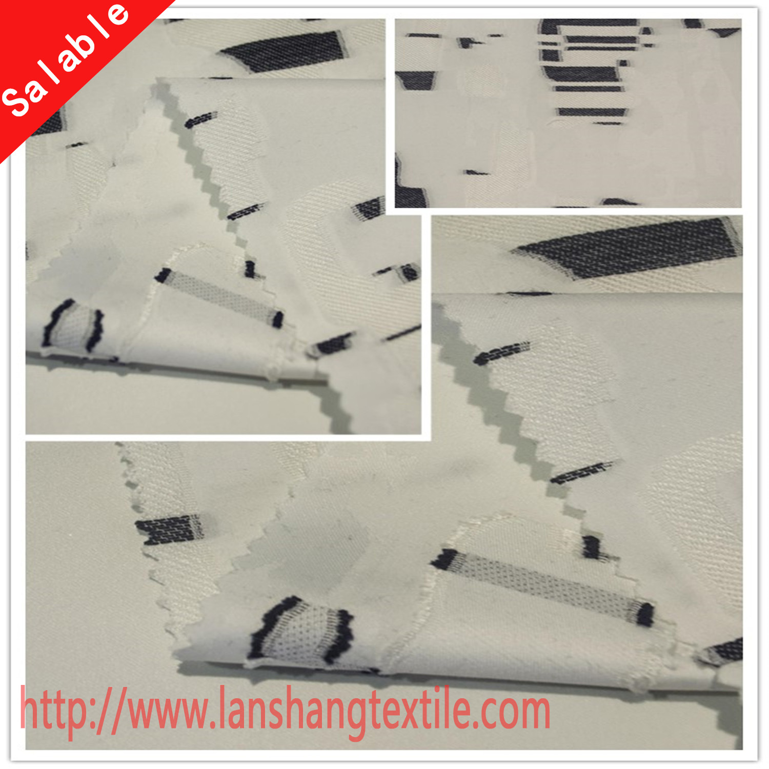 Yarn Dyed Jacquard Cotton Polyester Fabric for Curtain Garment Dress
