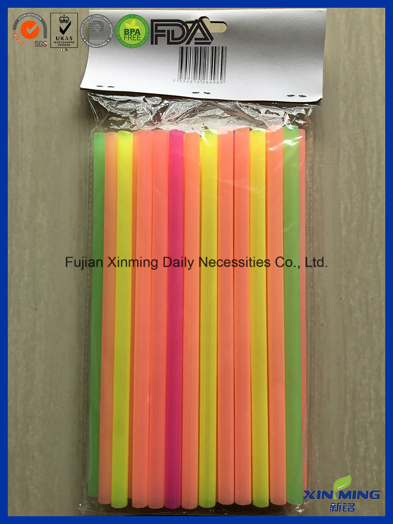 Super Jumbo Straw, Multi-Color Straight Drinking Straw