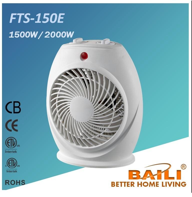 1500W & 2000W Fan Heater with Thermostat