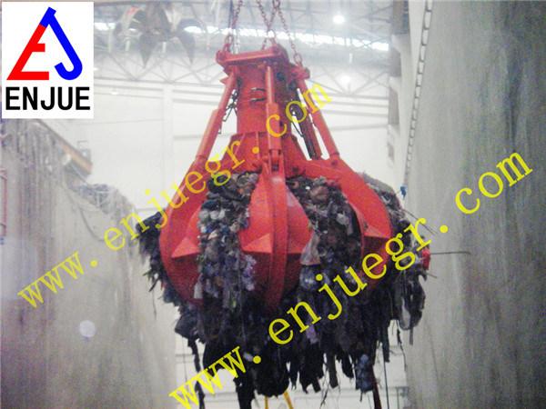 Power Station Orange Peel Garbage Grab Scrap Grab Bucket Used in Power Plant