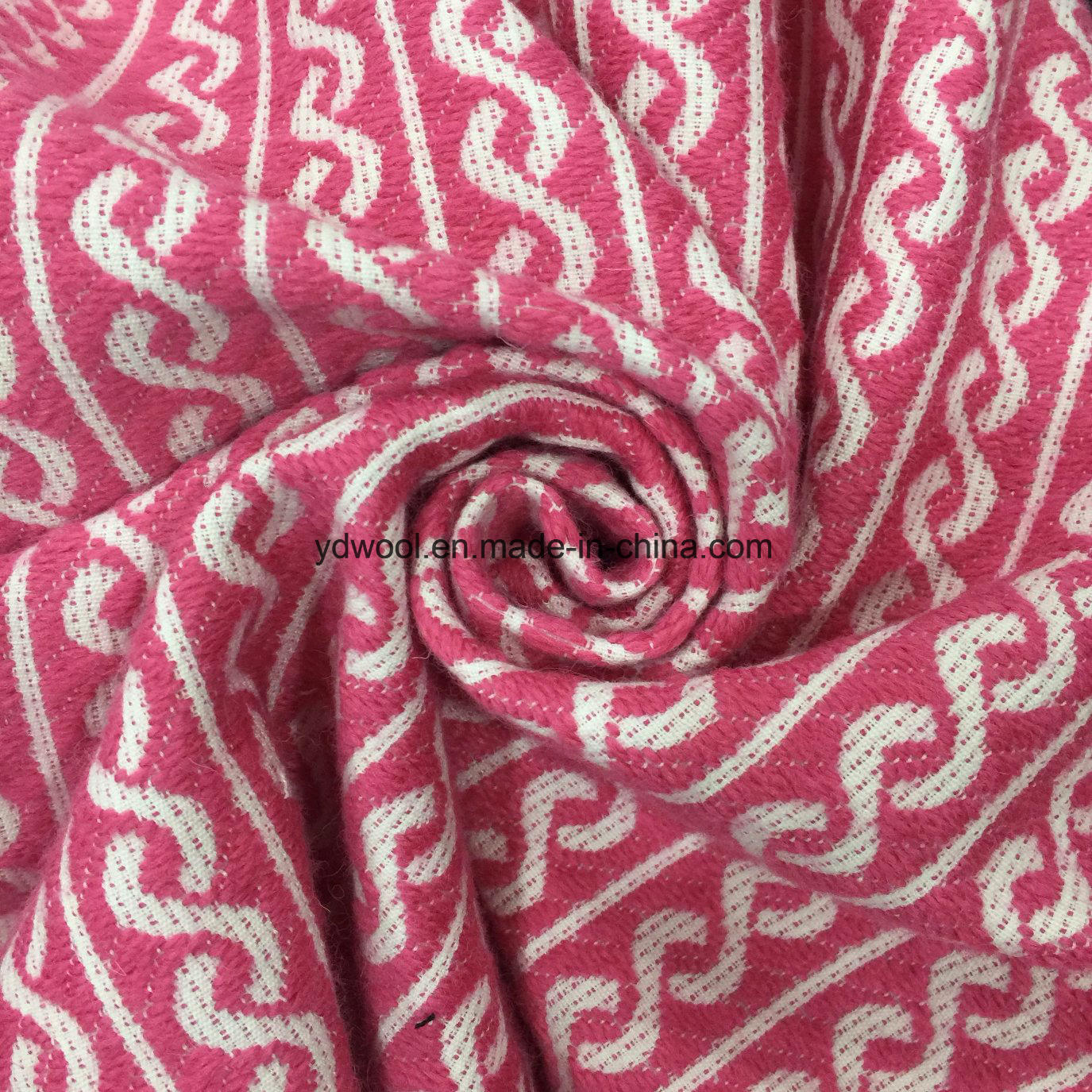 Spiral Styles Jacquard Wool Fabric Ready Greige
