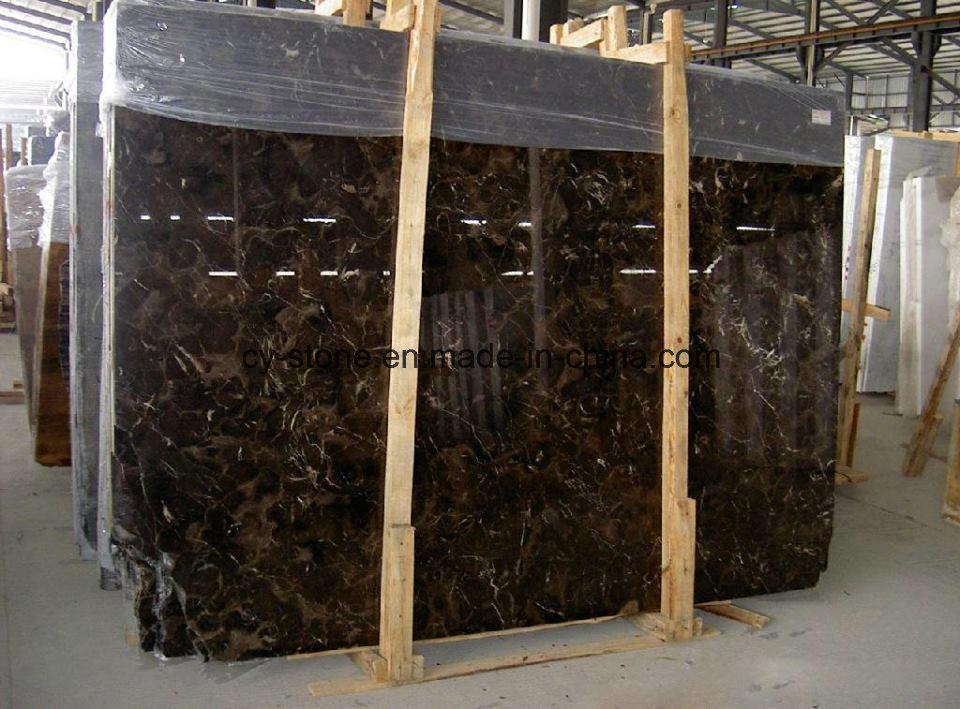 Chinese Dark Emperador Marble Slab for Flooring/Wall Tile