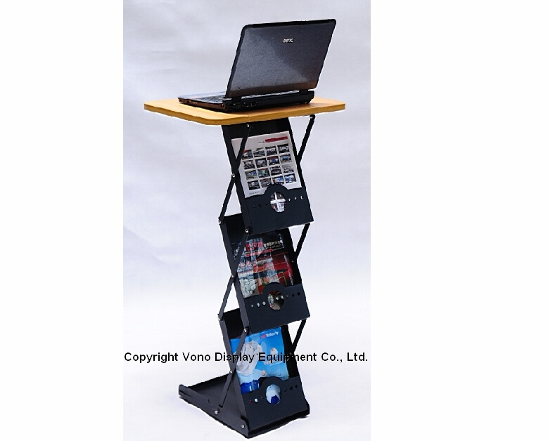 Exhibition Counter Display with 3 Literature Pockets
