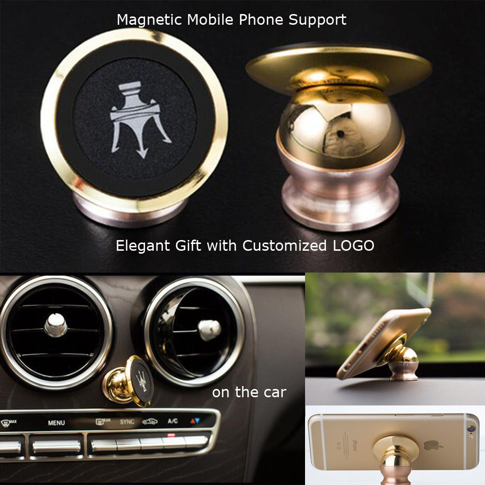 New 360 Degree Magnetic Mobile Phone Holder Car Handle Holder (WY-PS01)