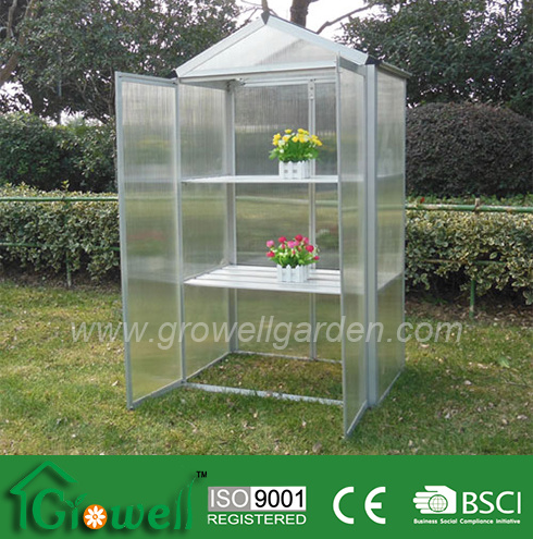 500*800*1450mm Mini Hobby Greenhouse with PC Panels and Aluminium Frames (MA325)