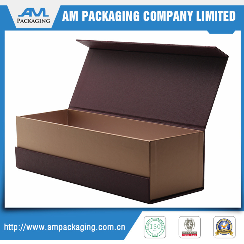 Hight Quality Texture Gift Paper Wrapper Wine Box with Magnetic Closure or for Jewelry Packaging
