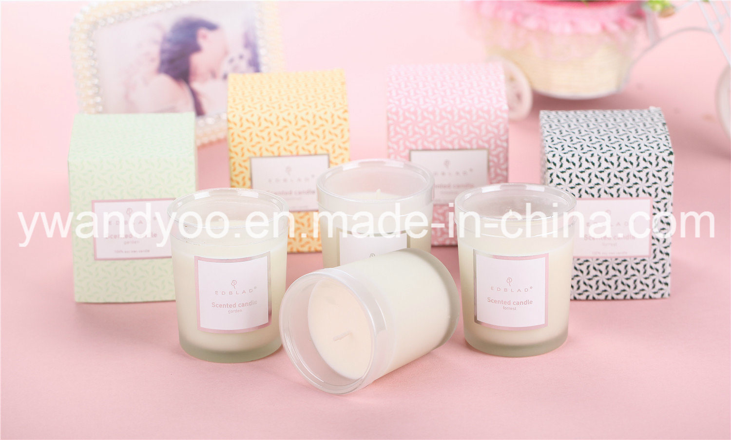 Frosted Glass Jar 175g Natural Wax Scented Candle