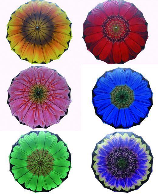 Big Flower Design Double Layers Umbrella (SU025-4)