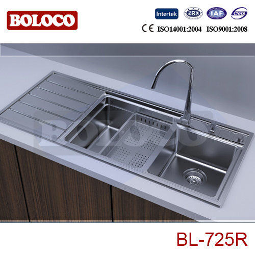 China High Quality Stainless Steel Kitchen Sink Bl-725L Photos ...