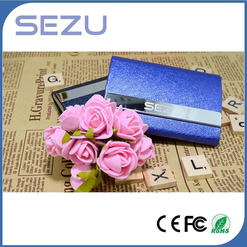 Portable Double Open Name Card Power Bank for iPhone and Samsung as Promotional Gift