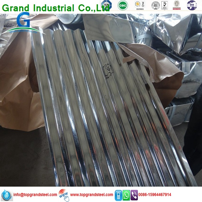 Trapezoidal PPGI/Gi Aluzinc Corrugated Galvanized  Metal Wall Panels 3